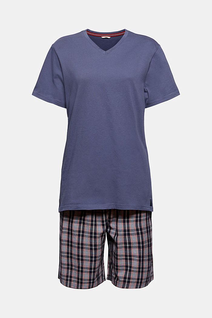 Pyjamas with checked shorts, organic cotton