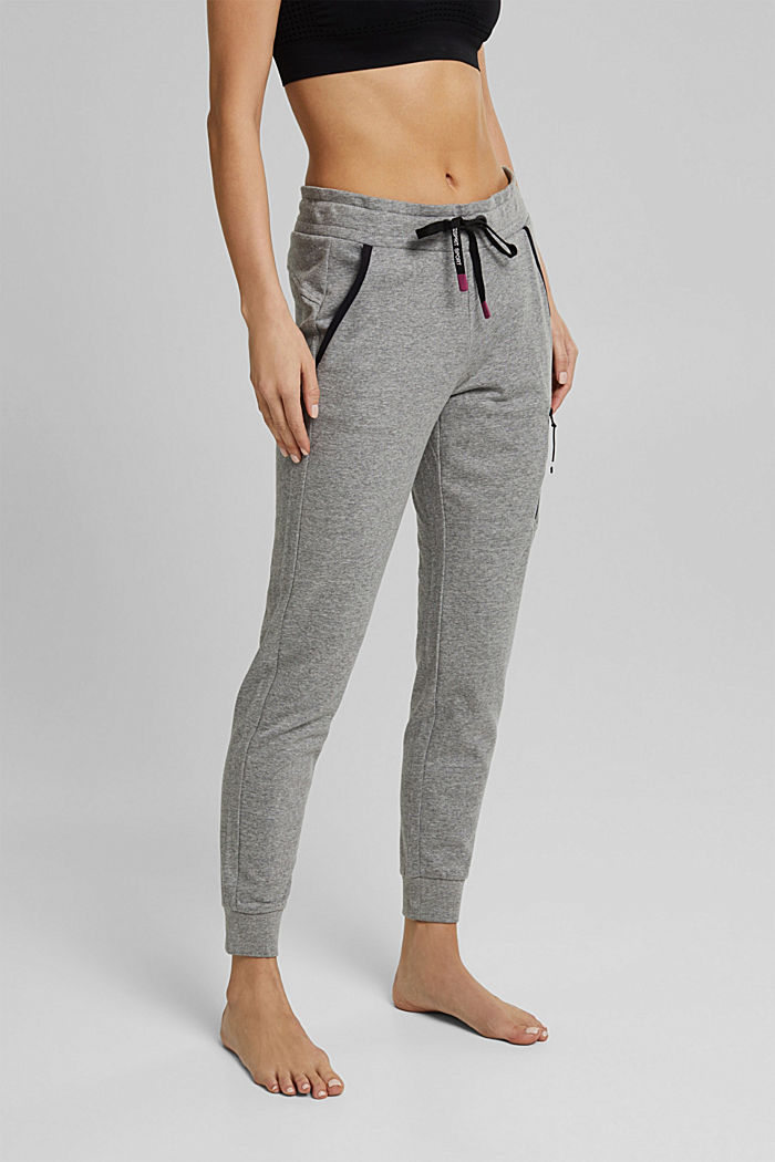 Sweatshirt trousers containing LENZING™ ECOVERO™, MEDIUM GREY, detail image number 0