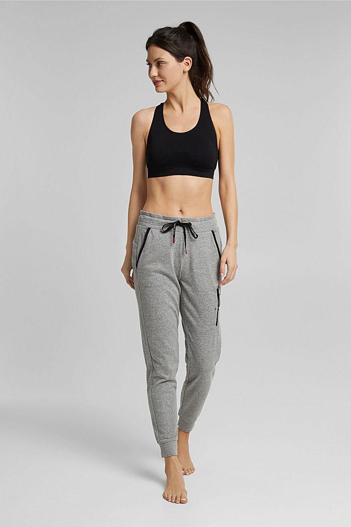 Sweatshirt trousers containing LENZING™ ECOVERO™, MEDIUM GREY, detail image number 1