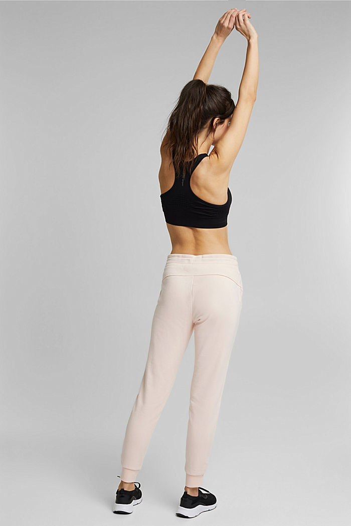Recycled: sweatshirt trousers containing organic cotton, PEACH, detail image number 3