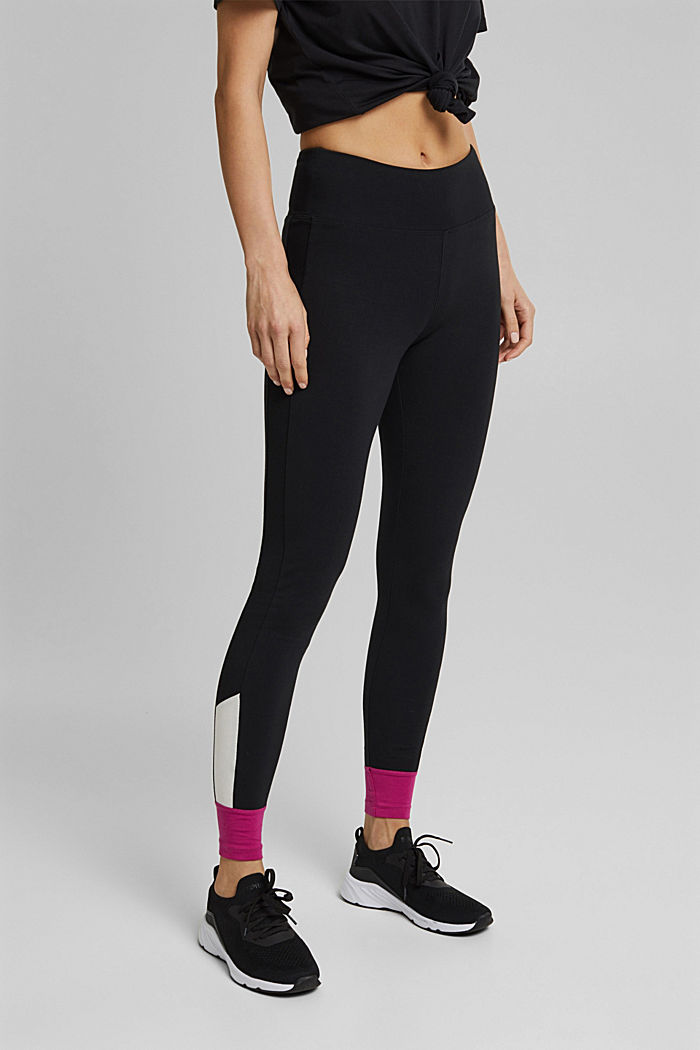 Jersey leggings made of organic cotton, BLACK, detail image number 0