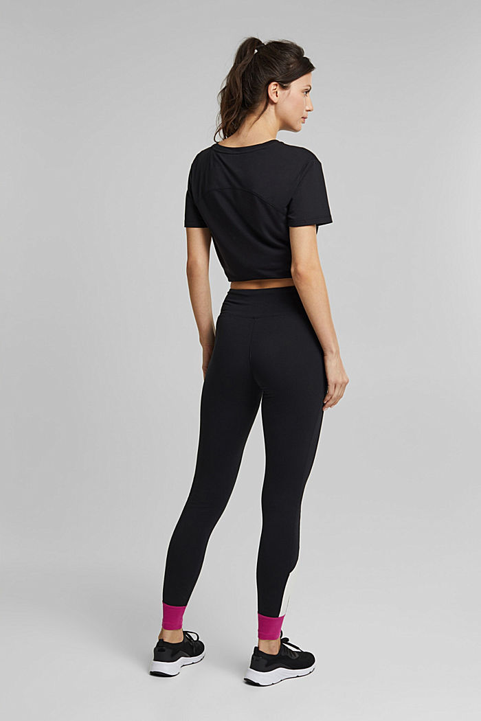 Jersey leggings made of organic cotton, BLACK, detail image number 3