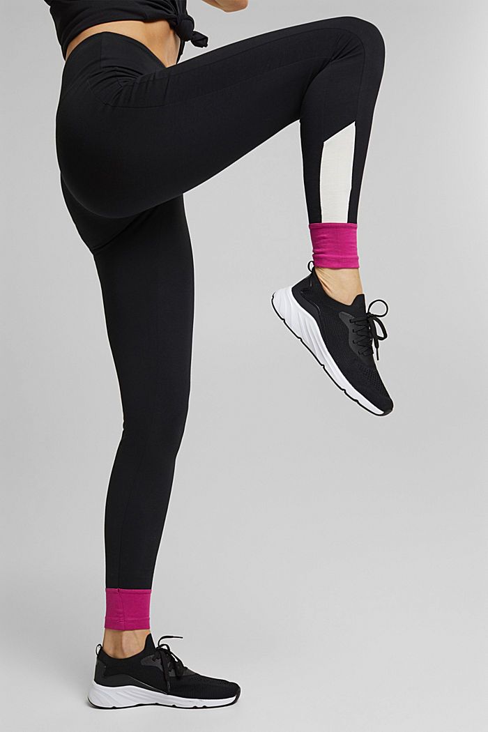 Jersey leggings made of organic cotton, BLACK, detail image number 2