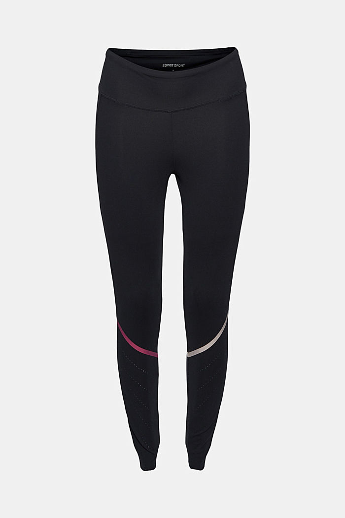 Active leggings with laser-cutting, E-DRY