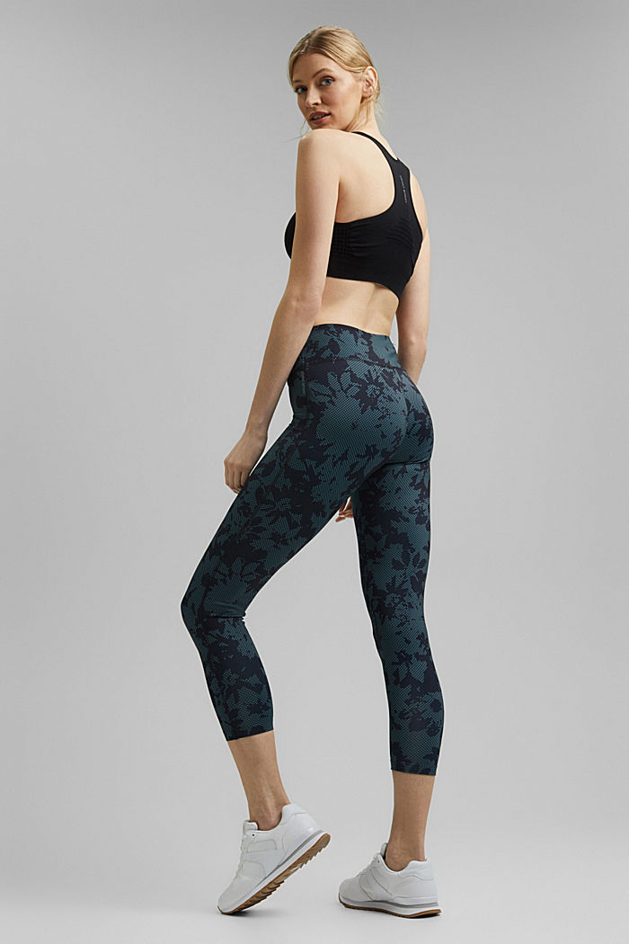 Recycelt: Active-Leggings mit Print und E-Dry, NAVY, detail image number 3