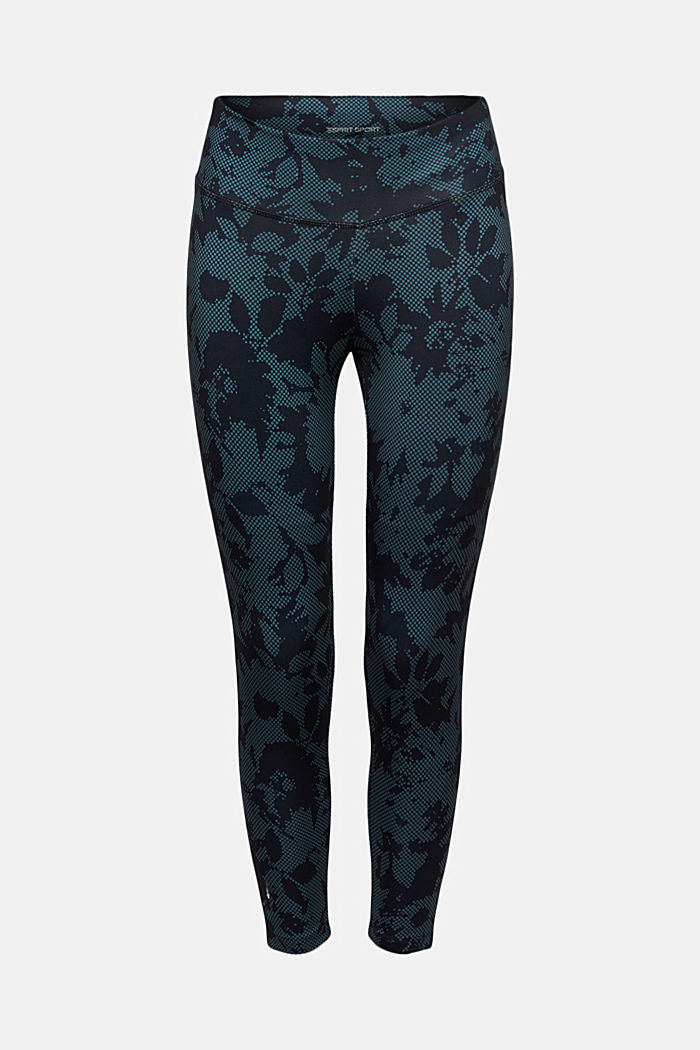 Recycelt: Active-Leggings mit Print und E-Dry, NAVY, detail image number 5