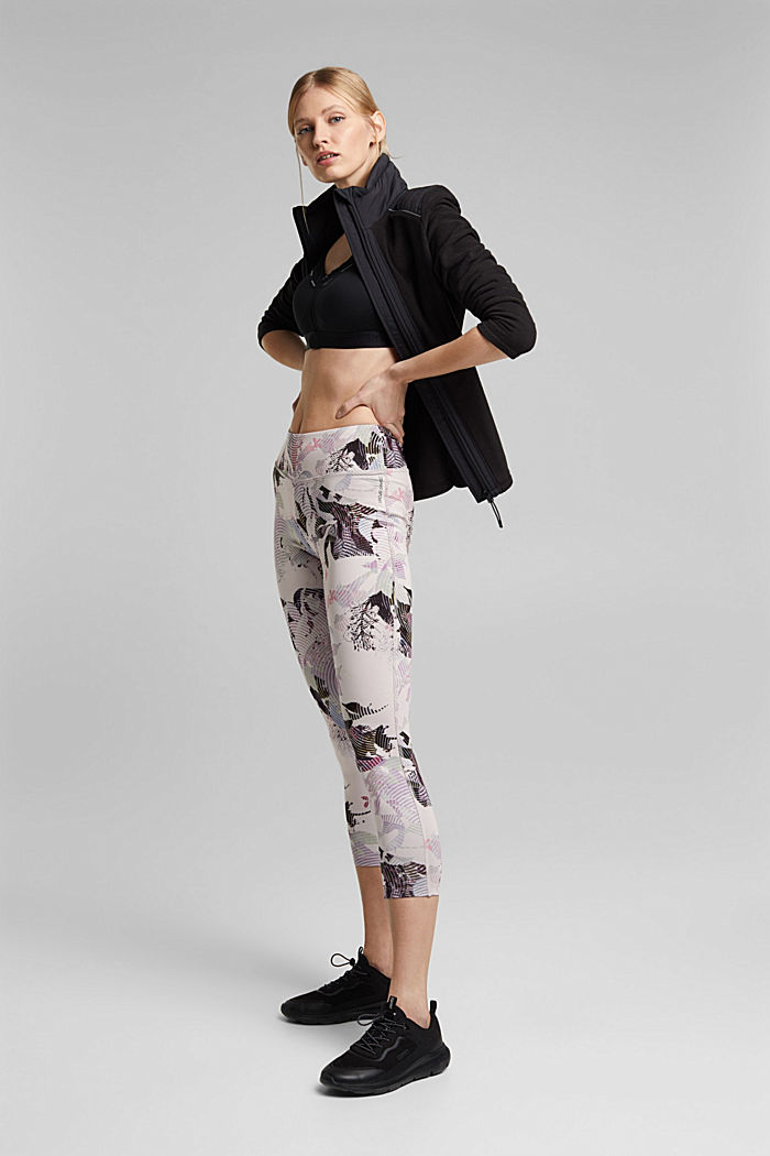 Recycled: high-performance leggings with a print, E-DRY, PEACH, detail image number 1
