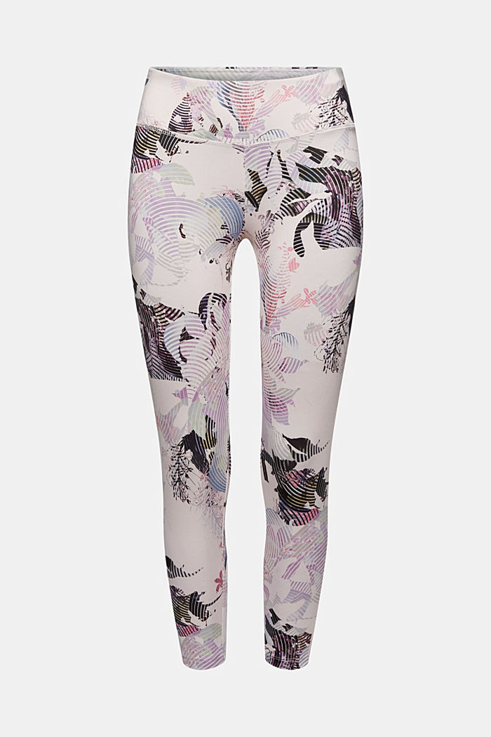 Recycled: high-performance leggings with a print, E-DRY