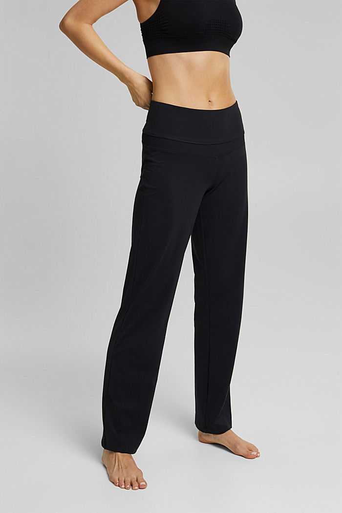 Recycelt: Active Pants mit E-DRY, BLACK, detail image number 0
