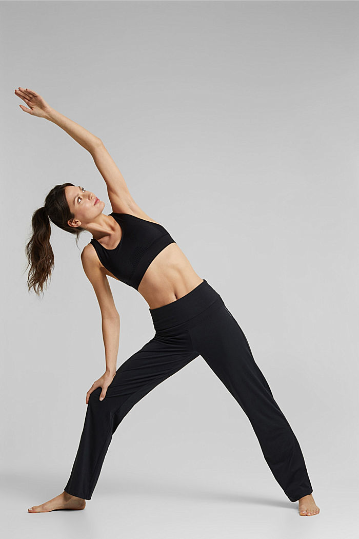Recycelt: Active Pants mit E-DRY, BLACK, detail image number 1