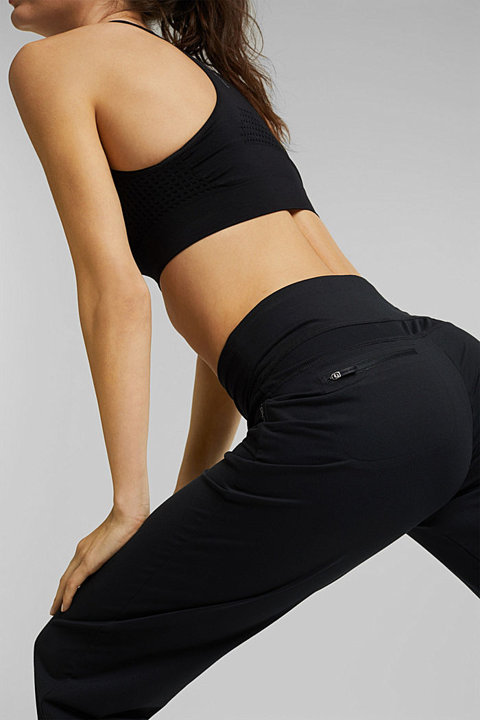 Recycelt: Active Pants mit E-DRY, BLACK, detail image number 2