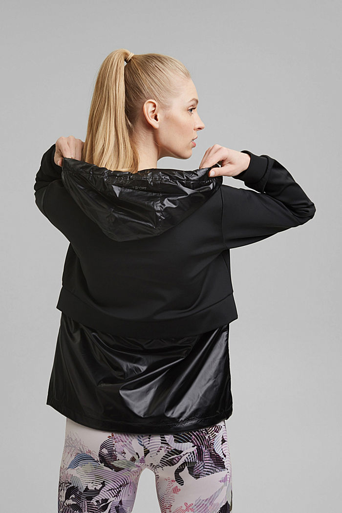 Active Outdoor-Jacke mit Material-Mix, BLACK, detail image number 3
