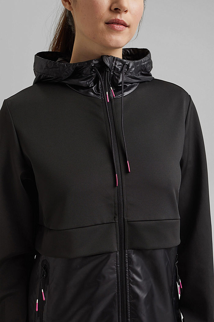 Giacca outdoor Active con materiale misto, BLACK, detail image number 5