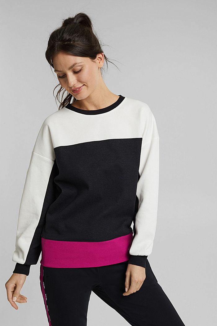Organic cotton sweatshirt, BLACK, detail image number 0