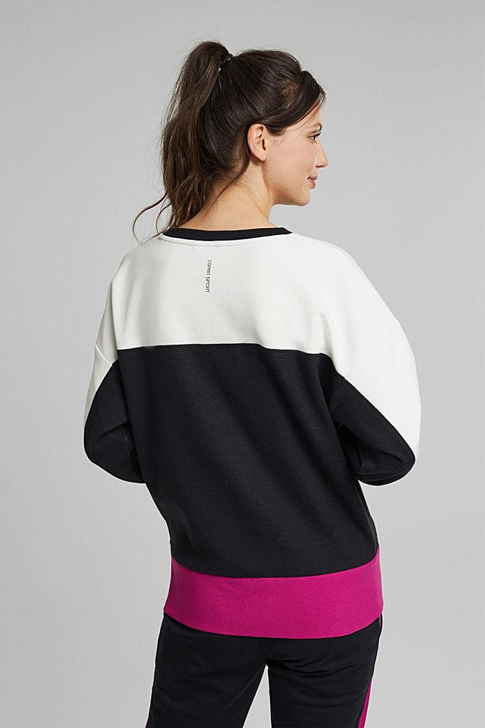 Organic cotton sweatshirt, BLACK, detail image number 3