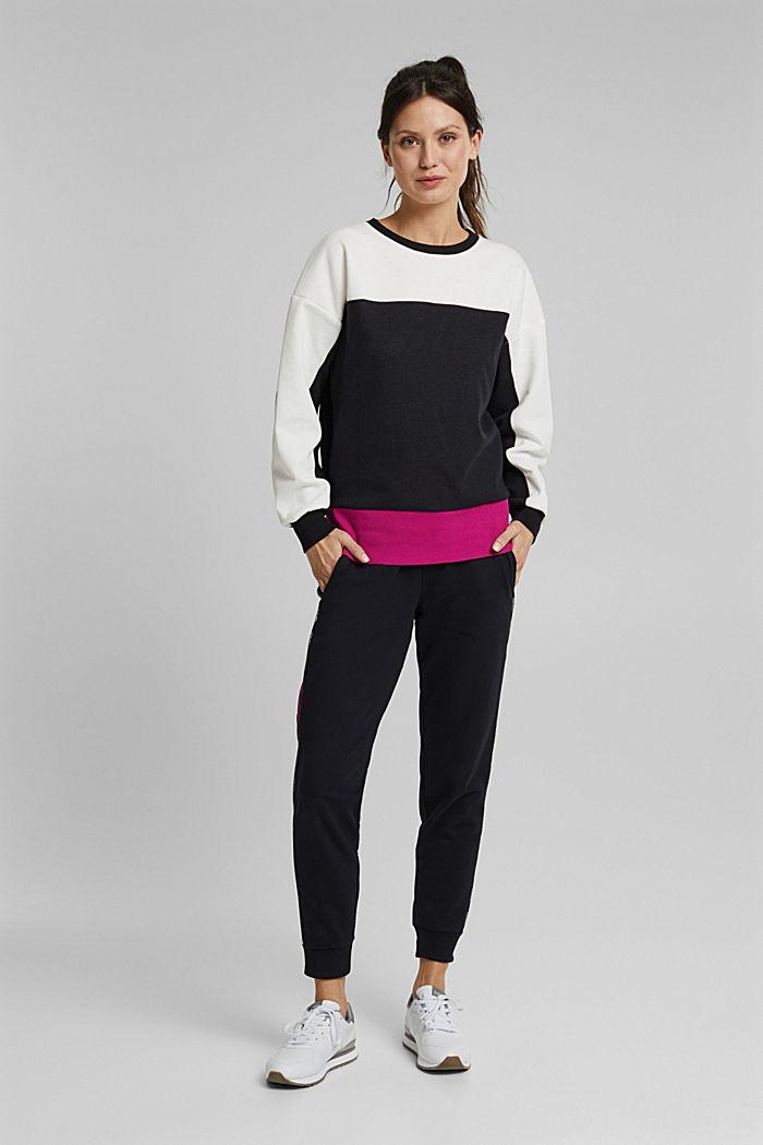 Sweatshirt mit Organic Cotton, BLACK, detail image number 1