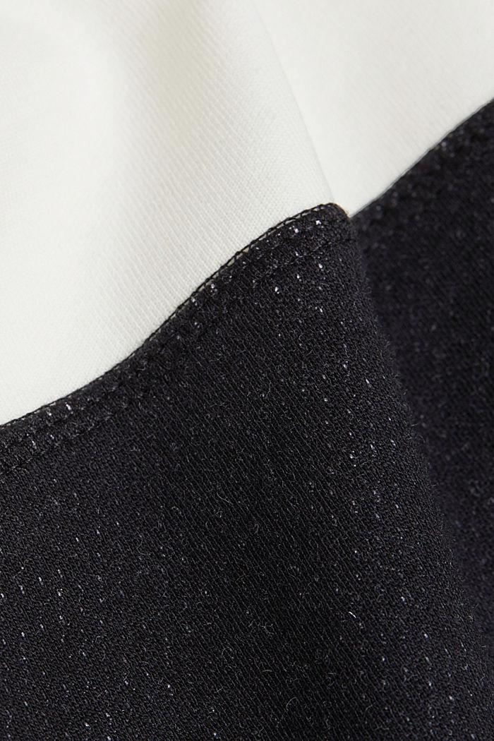 Sweatshirt mit Organic Cotton, BLACK, detail image number 4