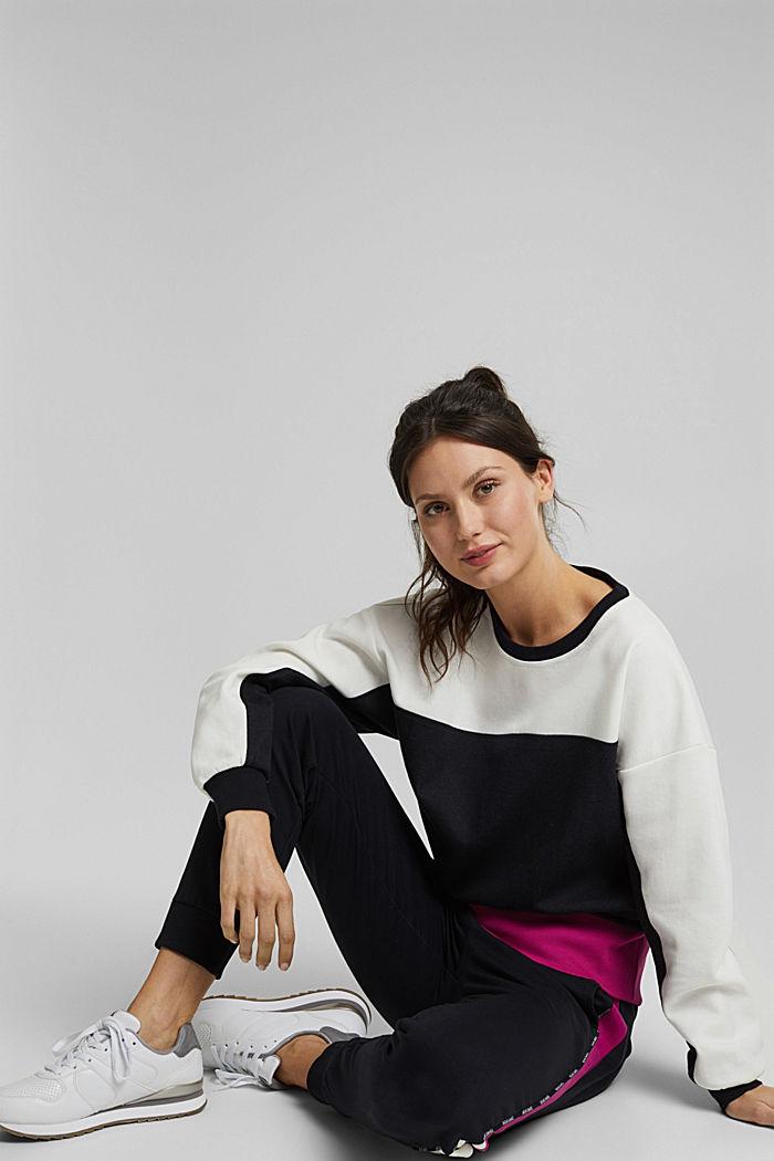 Organic cotton sweatshirt, BLACK, detail image number 6