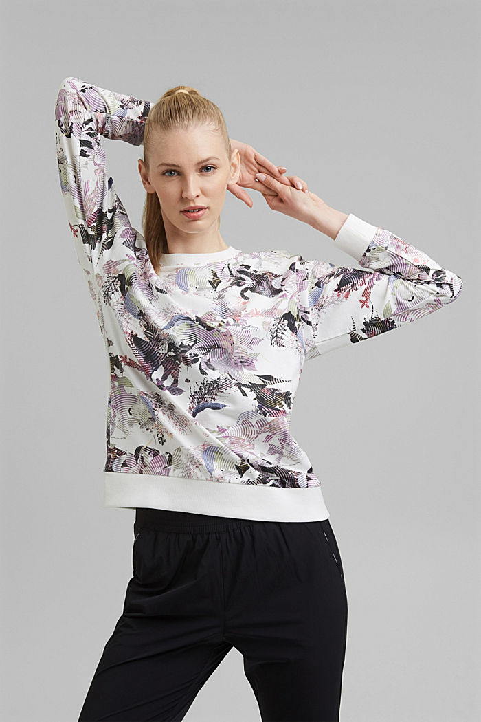 Printed sweatshirt made of organic cotton
