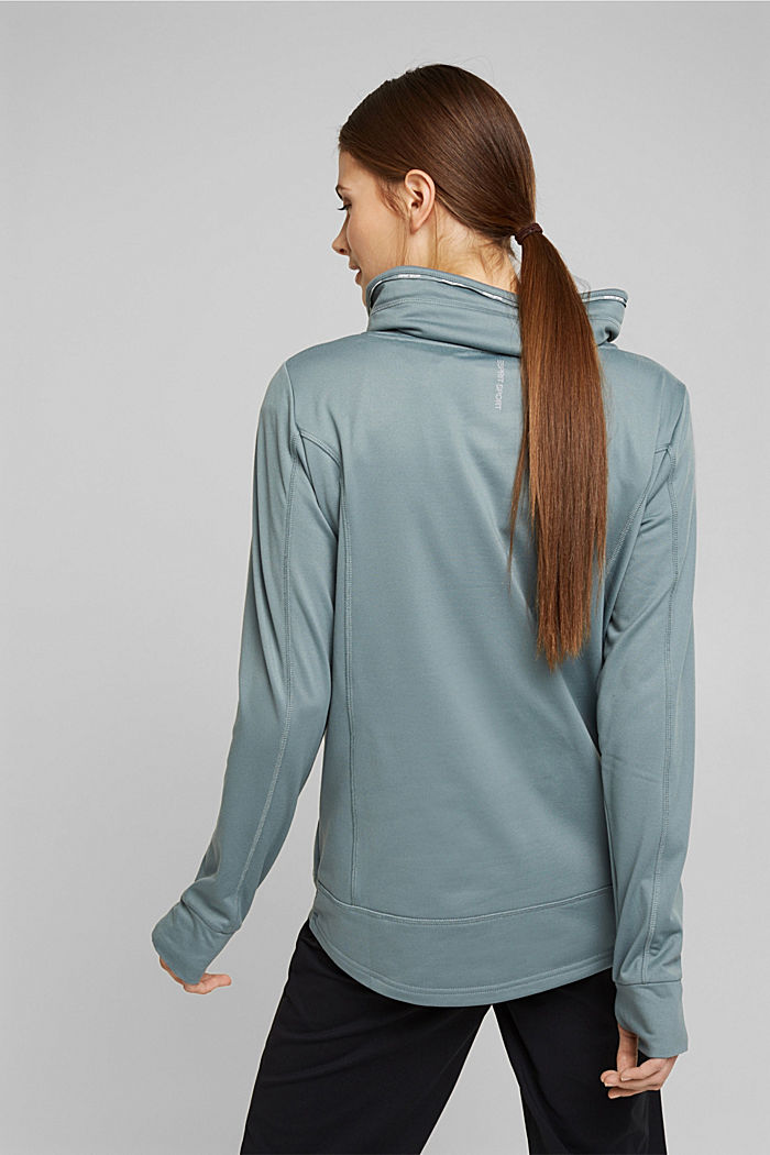 Recycled: Sweatshirt with tunnel collar, DUSTY GREEN, detail image number 3
