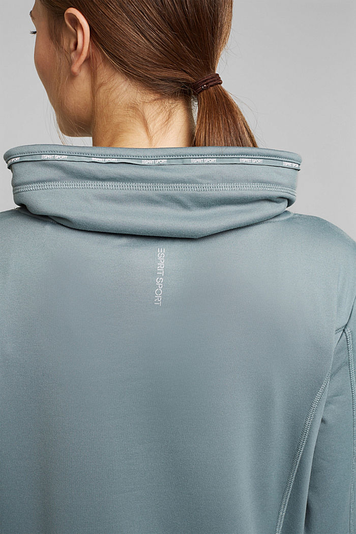 Recycled: Sweatshirt with tunnel collar, DUSTY GREEN, detail image number 5