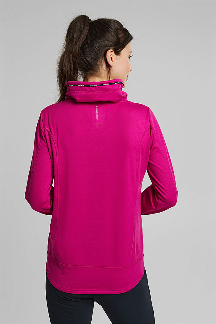 Recycled: Sweatshirt with tunnel collar, BERRY RED, detail image number 3