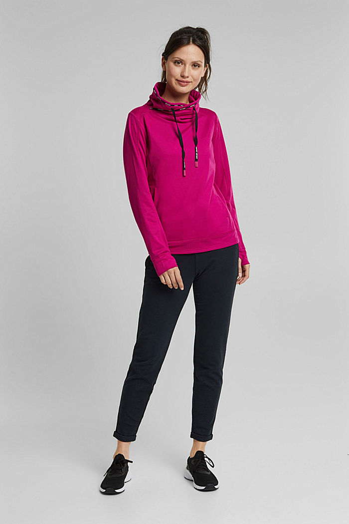 Recycled: Sweatshirt with tunnel collar, BERRY RED, detail image number 6