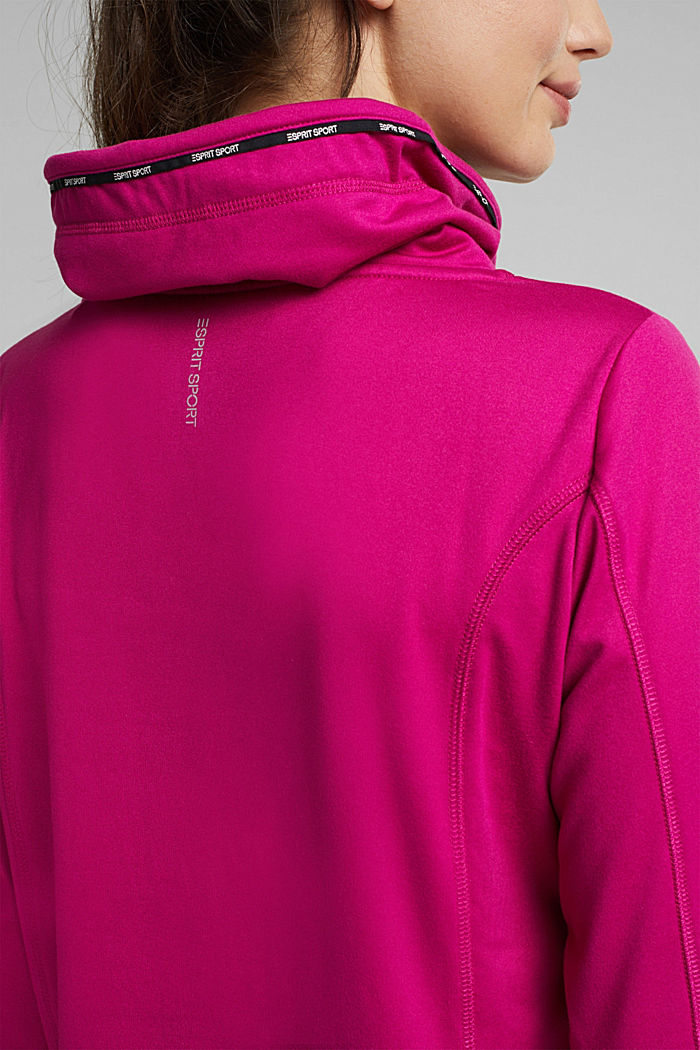 Recycled: Sweatshirt with tunnel collar, BERRY RED, detail image number 5