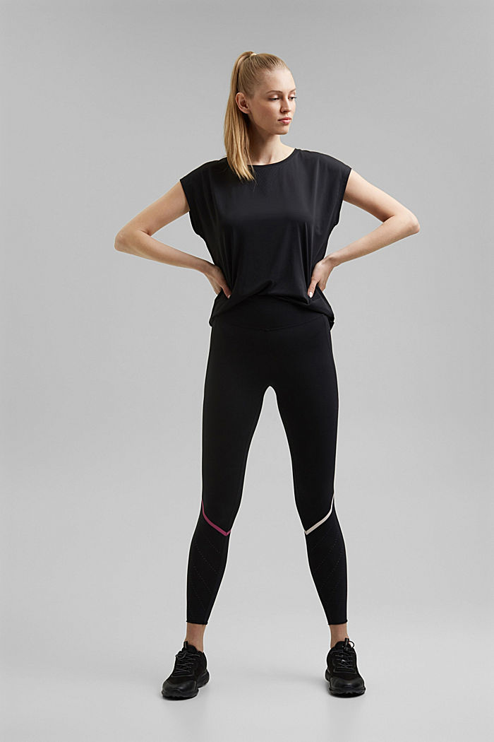 Recycled: Active top with E-DRY, BLACK, detail image number 9