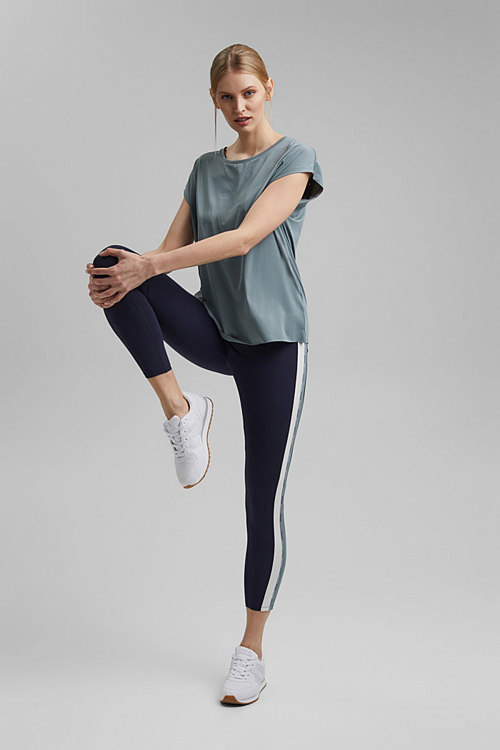 Recycled: Active top with E-DRY, DUSTY GREEN, detail image number 1