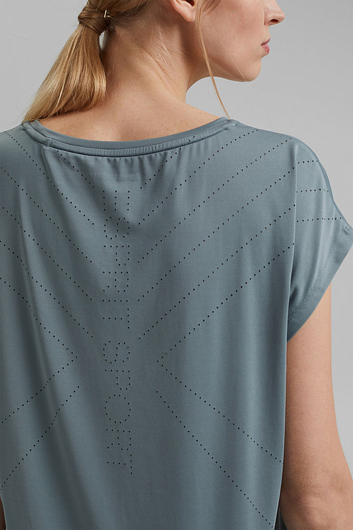 Recycled: Active top with E-DRY, DUSTY GREEN, detail image number 2