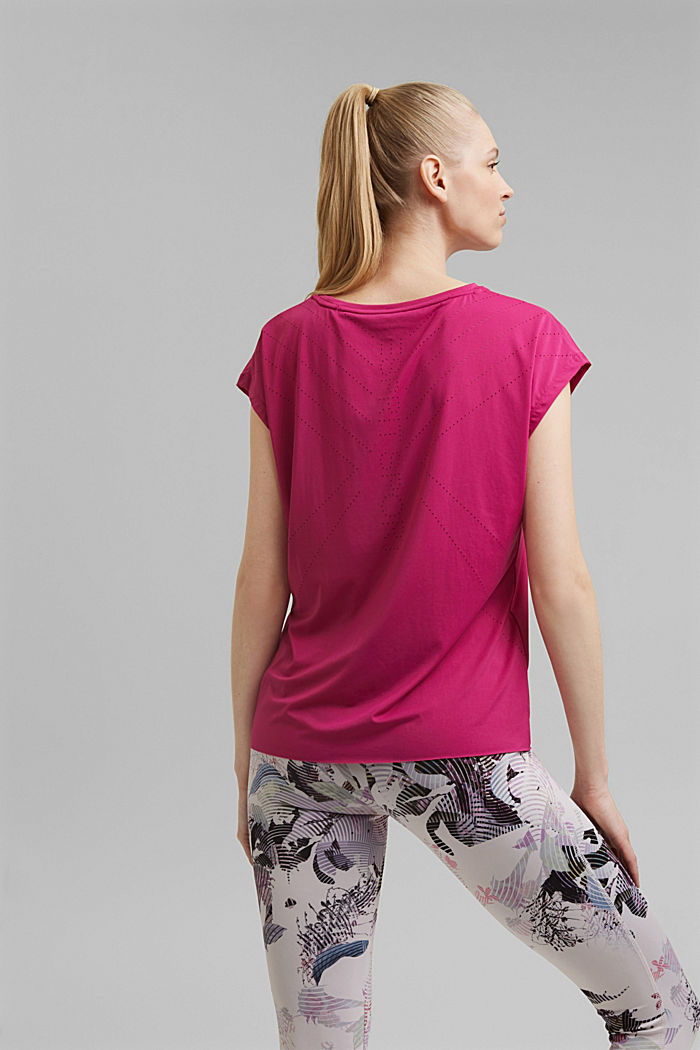 Recycled: Active top with E-DRY, BERRY RED, detail image number 3