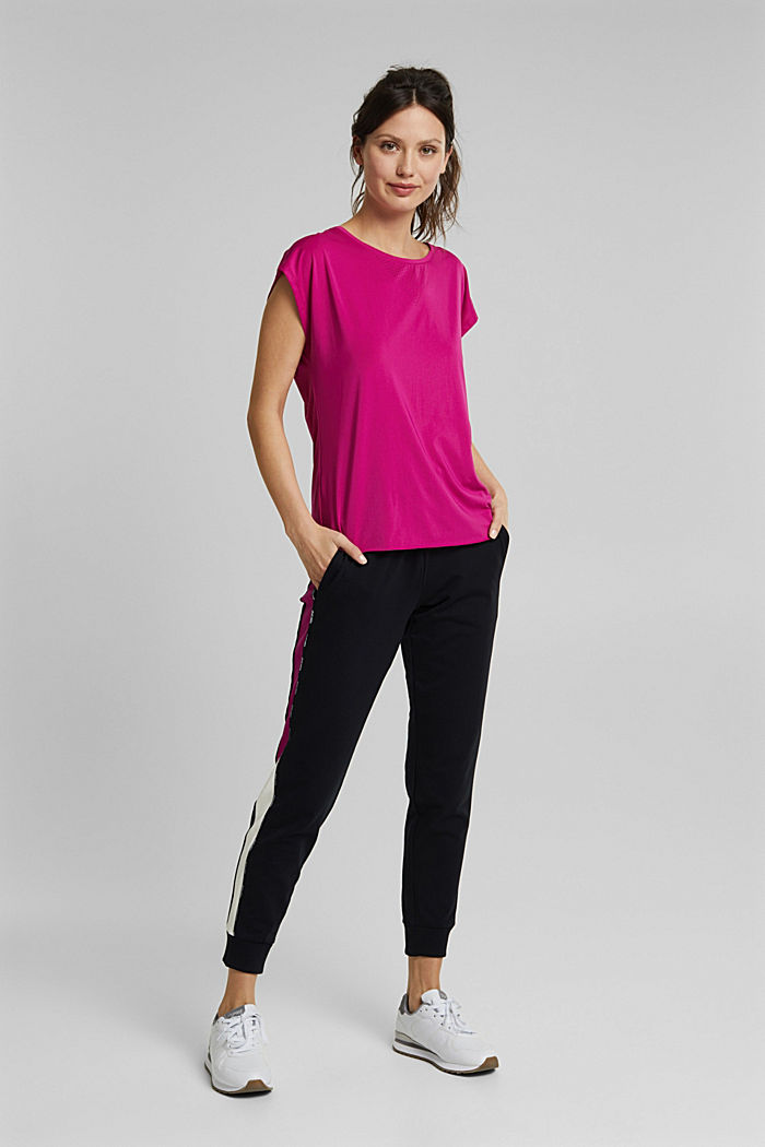 Recycled: Active top with E-DRY, BERRY RED, detail image number 6