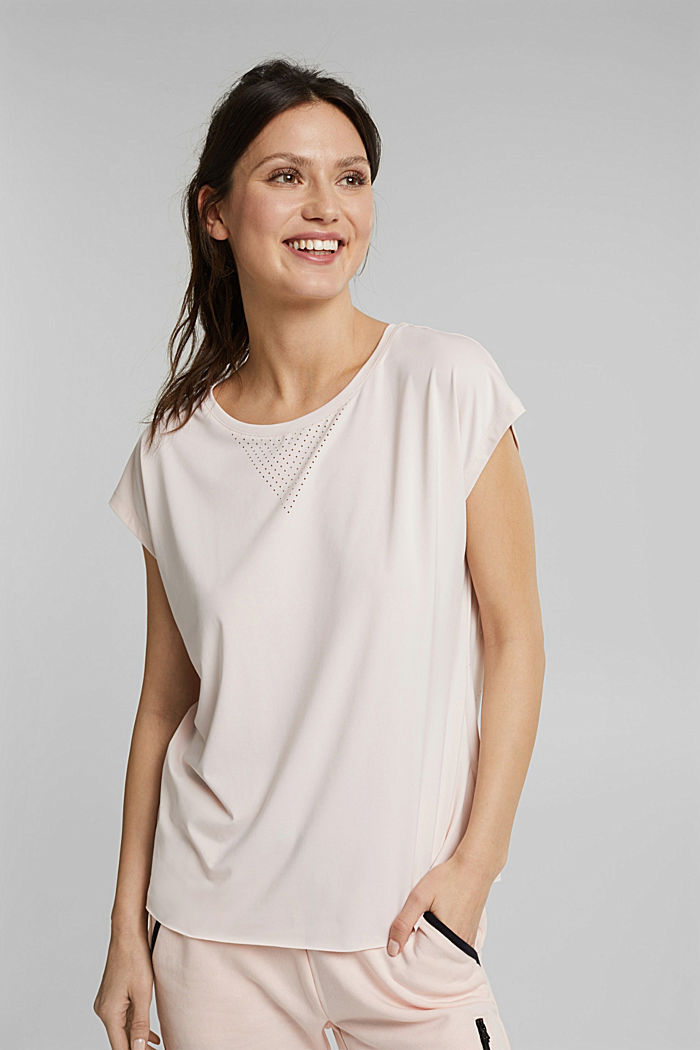 Recycelt: Active Shirt mit E-DRY, PEACH, detail image number 0