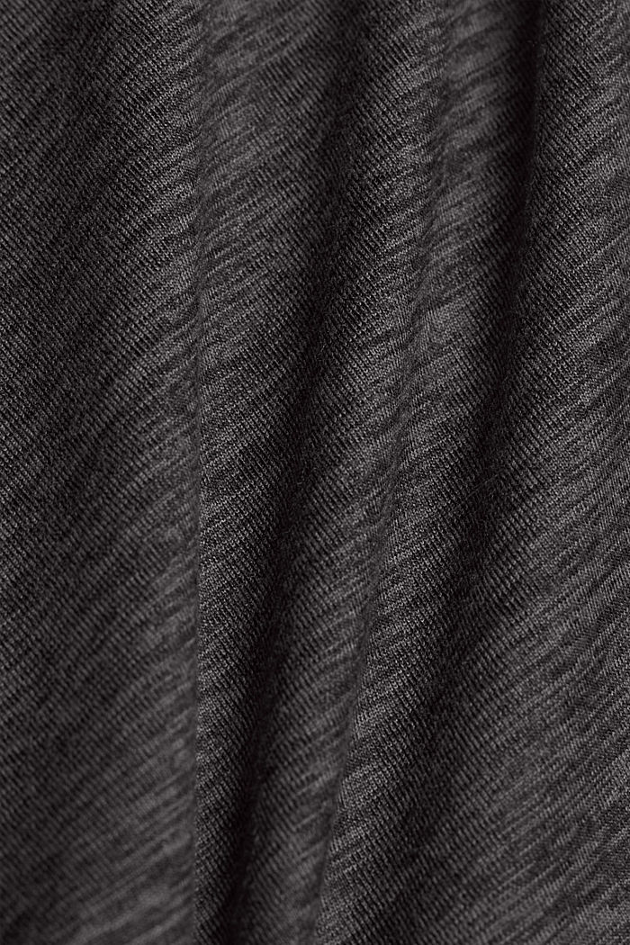 Recycled: Active T-shirt with E-DRY, ANTHRACITE, detail image number 4