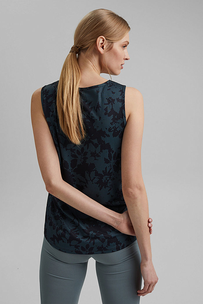 Recycelt: Print-Top mit E-DRY, NAVY, detail image number 3