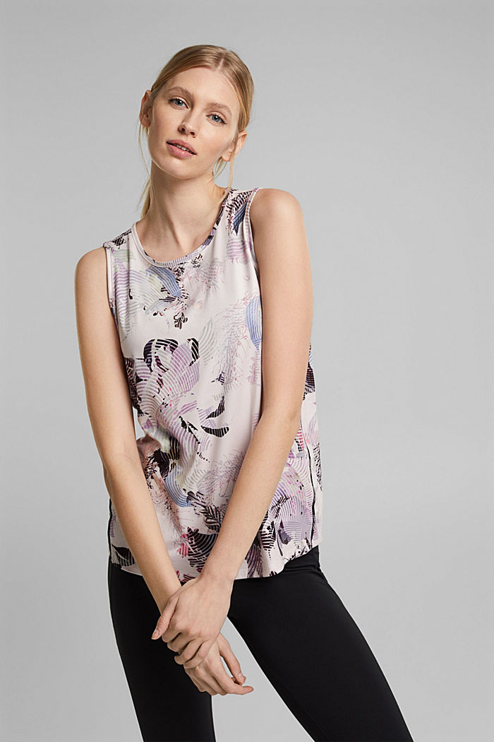 Recycled: Print top with E-DRY, PEACH, detail image number 5