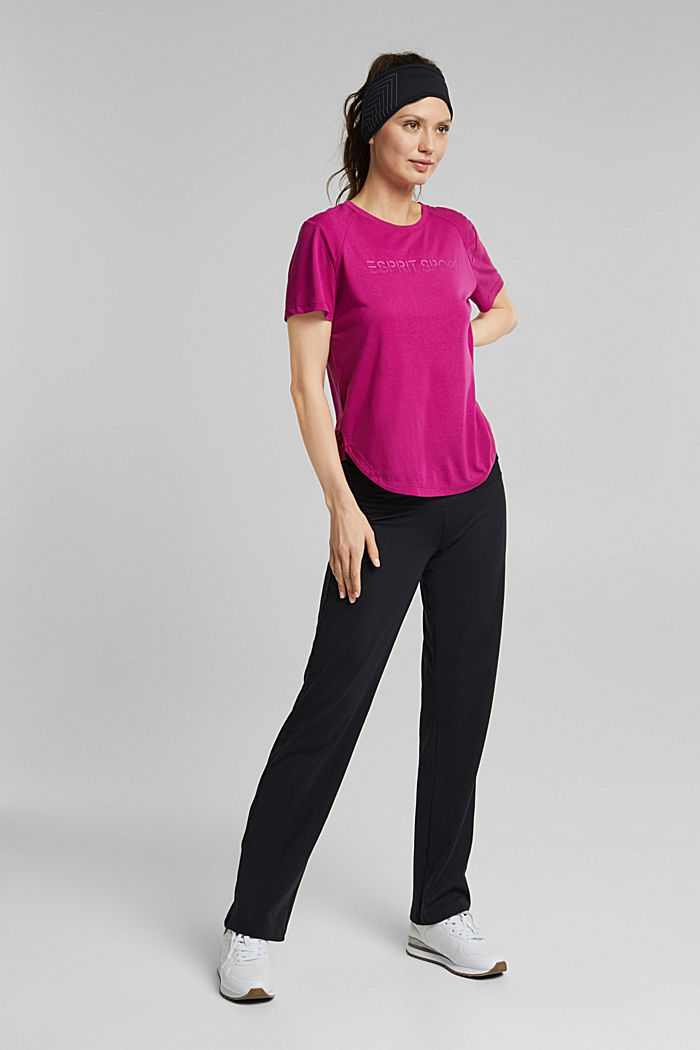Active Shirt mit Logo-Print, BERRY RED, detail image number 1