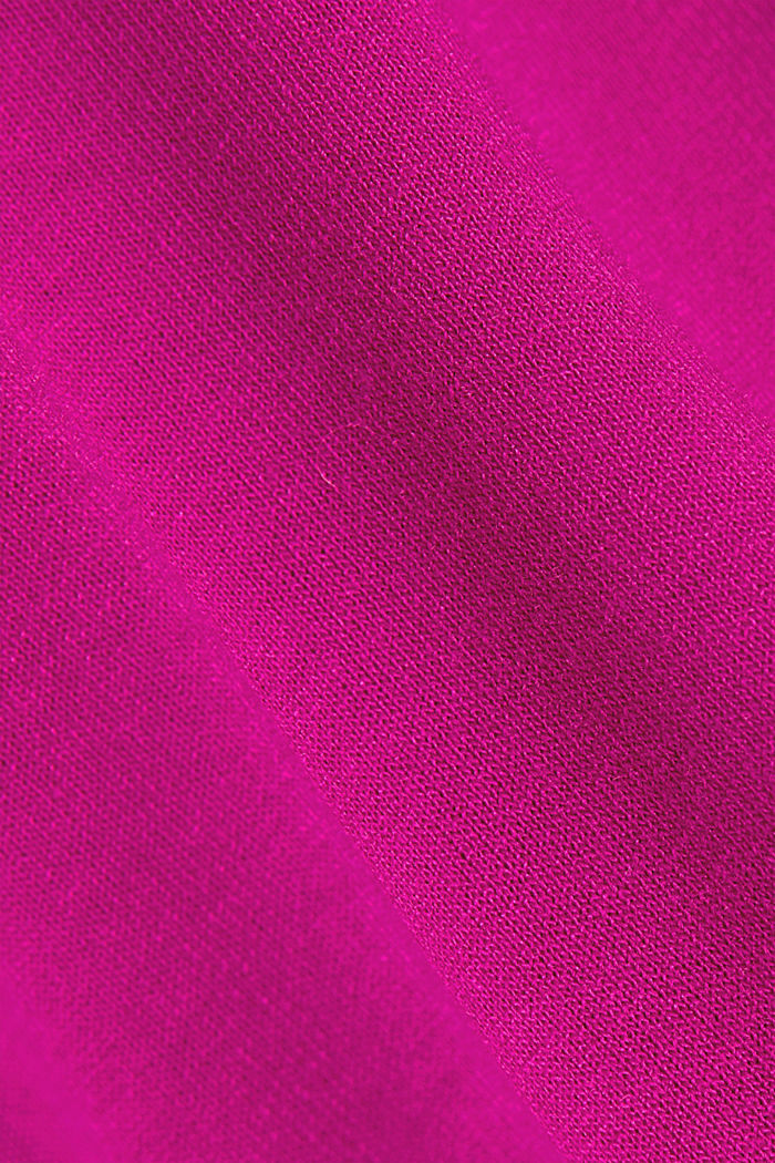 Active T-shirt with logo print, BERRY RED, detail image number 4