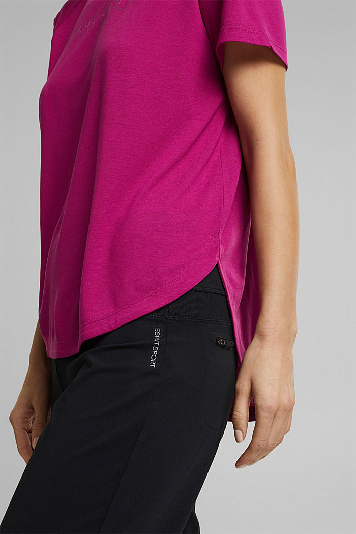Active Shirt mit Logo-Print, BERRY RED, detail image number 5