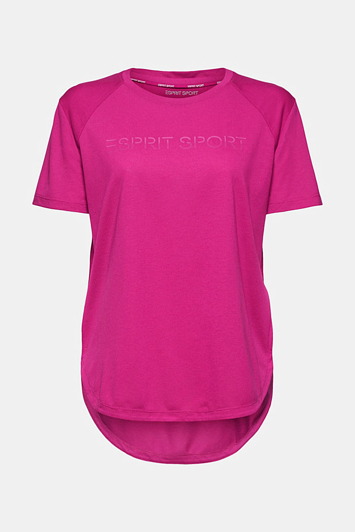 Active T-shirt with logo print, BERRY RED, detail image number 7