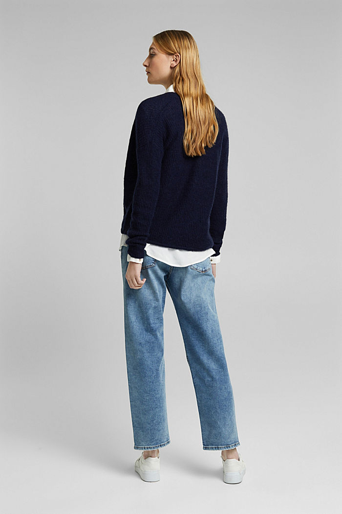Stretch jeans in organic cotton, BLUE LIGHT WASHED, detail image number 3