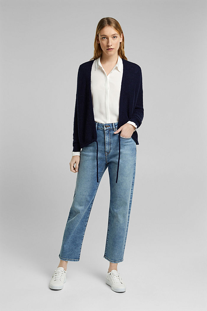 Stretch jeans in organic cotton, BLUE LIGHT WASHED, detail image number 1