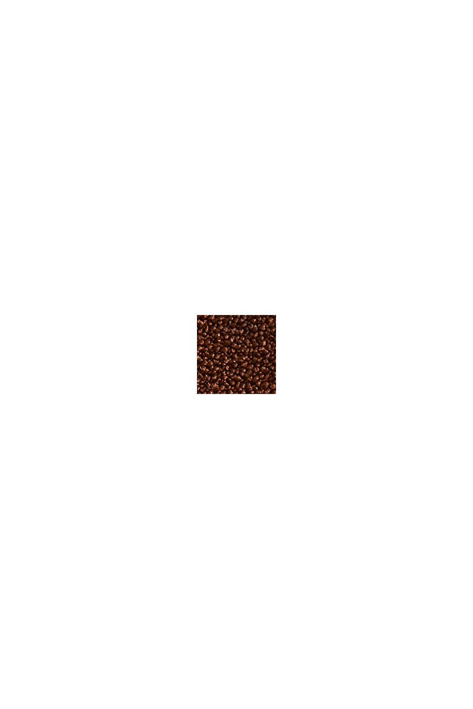 Återvunnet material: plisserad culottebyxa med hög midja, TOFFEE, swatch