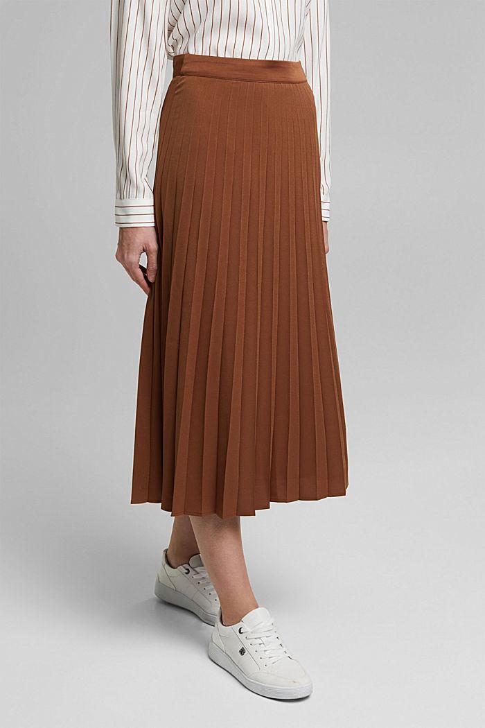 Z recyklingu: plisowana spódnica, TOFFEE, detail image number 0