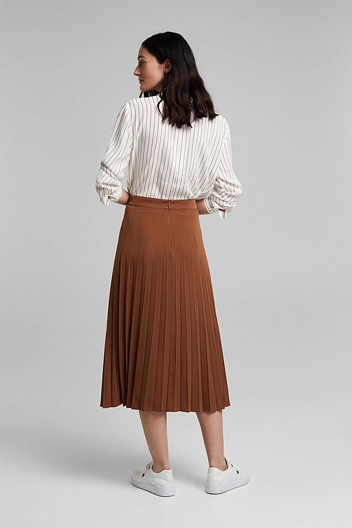 Z recyklingu: plisowana spódnica, TOFFEE, detail image number 3