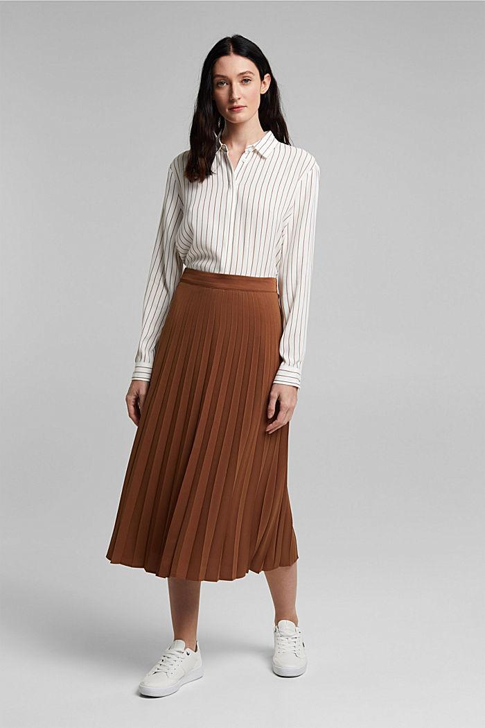 Z recyklingu: plisowana spódnica, TOFFEE, detail image number 5