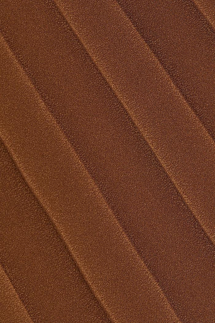 Z recyklingu: plisowana spódnica, TOFFEE, detail image number 4