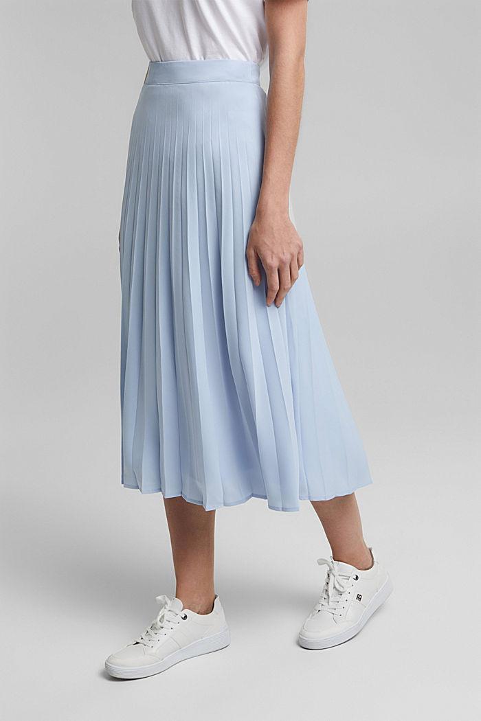 En matière recyclée: la jupe plissée, PASTEL BLUE, detail image number 0