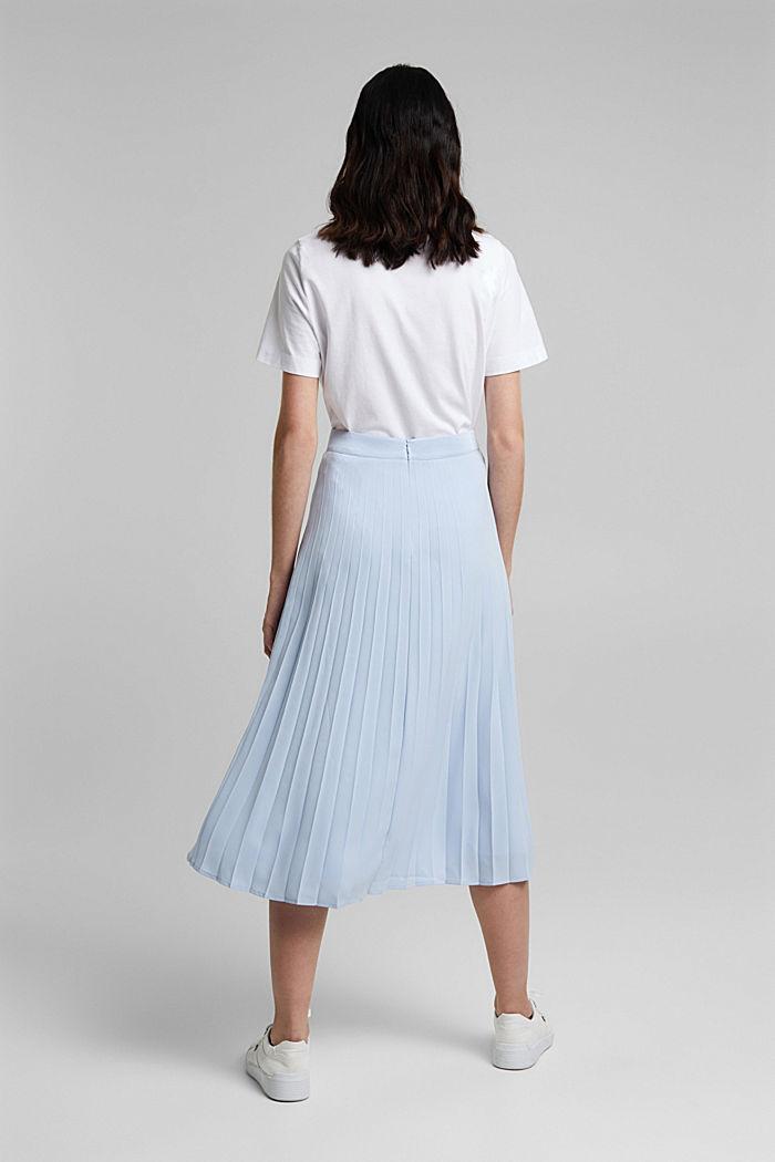 En matière recyclée: la jupe plissée, PASTEL BLUE, detail image number 3